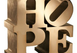 Hope Sculpture - 2009 - 46x46x23cm 18x18x9in. Bronze - Numbered 1 of an edition of 9