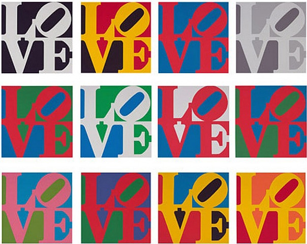 Robert Indiana - Special Edition of the Book of Love 13 ed. of 50 20x24in.