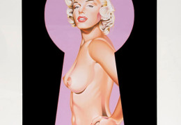 Mel Ramos - Peek A Boo Marilyn 2 - 2002 - Litograph, signed and numbered in pencil - Ed. of 199 - 31.5x23in.