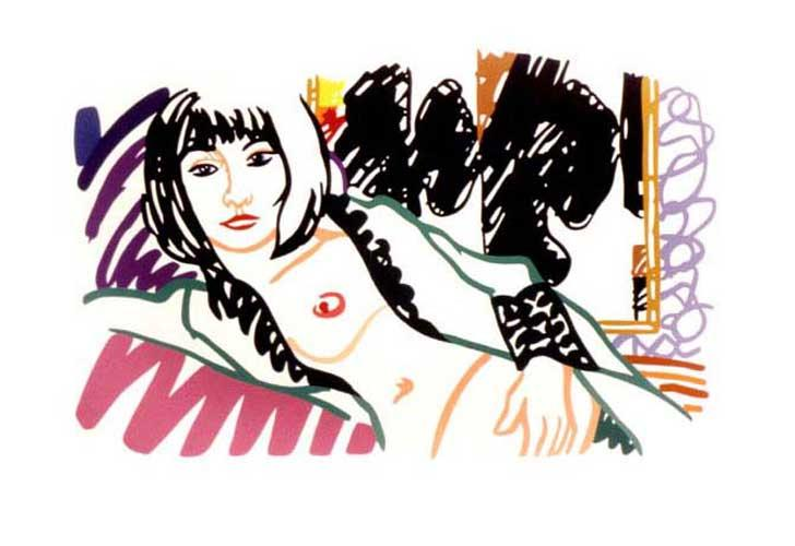 Monica in Robe with Motherwell - 103x153cm 40.25X58in. - Print Ed. Limited and signed