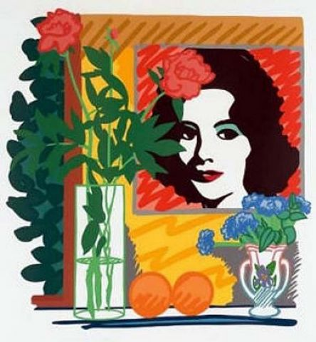 Still Life with Liz - 59.5X57in. 151.1X144.8cm - Print Ed. Limited and signed